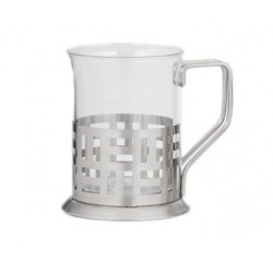 Glass with Stainless Steel Holder