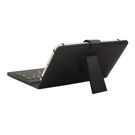 """7"""" Inch USB Keyboard Tablet iPad Kindle Black Soft Leather Sleeve Case Cover"""