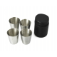 Stainless Steel Black Matt Hip Flask Funnel Wine Bottle Opener Shot Glasses 8 Piece Bar Set
