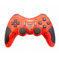 Amigo 2.4 G Wireless 3-in-1 Gamepad (Red, For PS3, PC, PS2)
