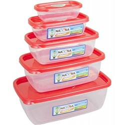 5 Pcs MICROWAVE Food Grade Containers