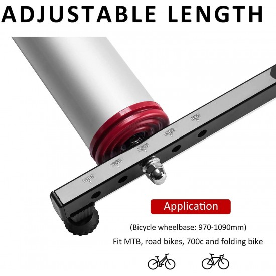 Bicycle Roller Exercise Trainer Adjustable Foldable Portable for Road and MTB