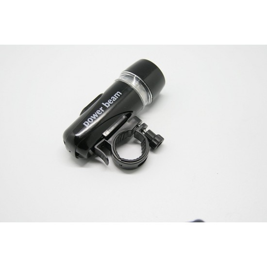 Power Beam Bicycle Bike Front Head Light Bright 2 Mode 5 LED Flash Torch