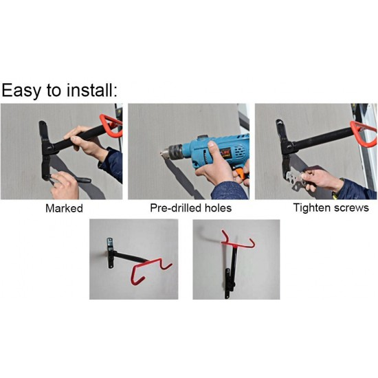 Bicycle Wall Mount Hanger Storage Rack Cycling Stand