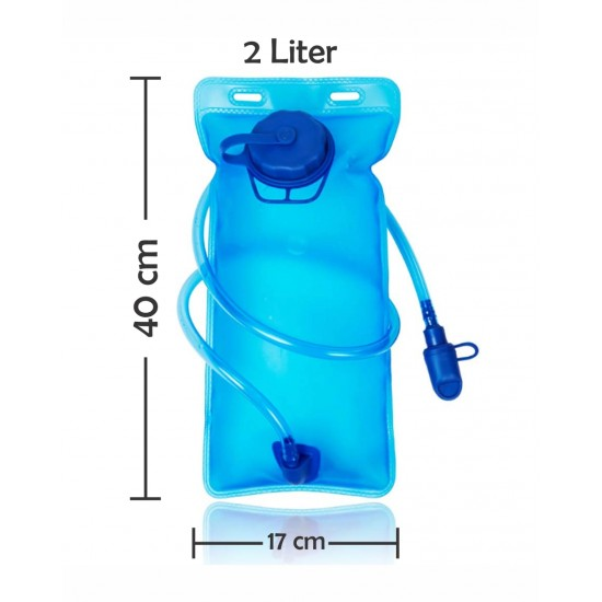 Hydration Pack Upgraded Water Bladder with Quick Release Insulated Tube and Auto Shut-off Valve for Hiking, Cycling, Running