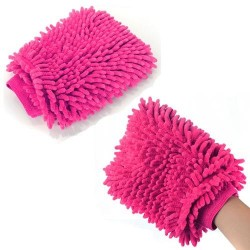 2 Pcs - Hand Gloves Microfiber Cleaning Cloth  Reusable for Office Desk TV Kitchen & Car