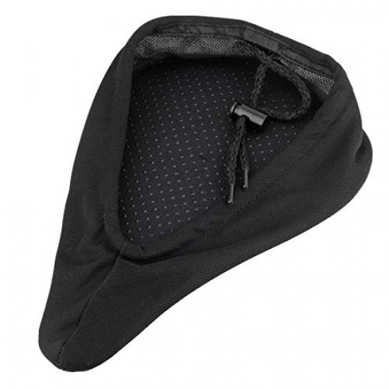 Cycling 3D Silicone Gel Pad Seat Saddle Cover Soft Cushion (Black)