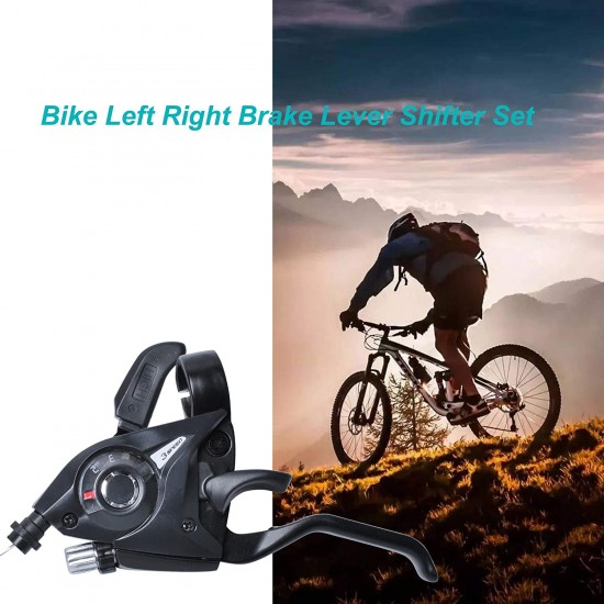 Cycle Brake 2 Pcs 3x7 21 Speed MTB Bicycle Bike Left Right Brake Lever Shifter Set,Bicycle Trigger Shifter 3x7