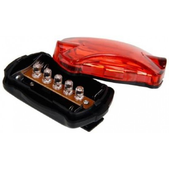 Cycle 5 LED Bright Tail Flashing Light Lamp With Clamp LED Rear Break Light  (Black, Red)