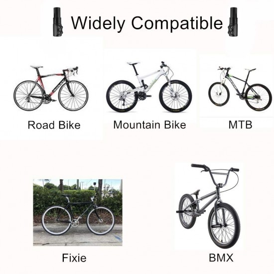 Cycle Handle Bar Extender Mountain Bicycle Cycle Heads Up Stem Riser Adapter Handlebar (Black)