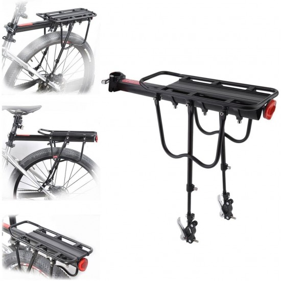 Cycle Luggage Seat Adjustable, Aluminum Alloy Rear Bag 50Kg Cargo Luggage Bags For Cycling Camping Sports