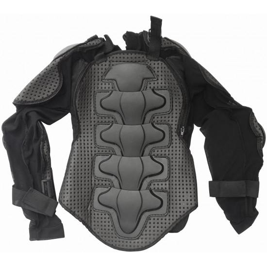Protective Gear Jackets Full Body Armor, ATV Safety Guard Armored Protector Black