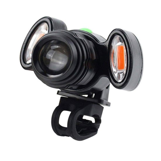 Bike Bicycle Headlight 4 Mode LED Focus Rechargeable Front Light