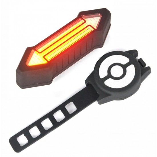 Bicycle USB Wireless Indicator Left Right Turn Signal Rechargeable Remote LED Rear Break Light