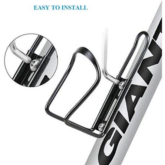 Cycle Water Bottle Holder Rack Aluminum Water Bottle Stand Drinking Cage Handle Bicycle