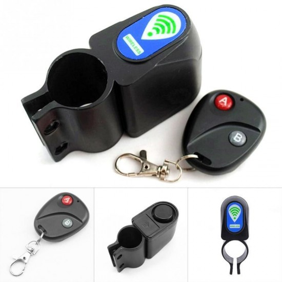 Bicycle Vibration Sensor Remote Control Wireless Waterproof Electronic Safety Lock