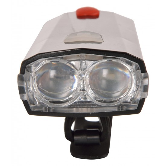 USB Rechargable Horn Bicycle Bike  Bright 3 Mode LED Front Light