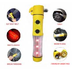 5 in 1 Car LED Beacon Flash light Alarm Emergency Hammer