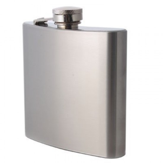 Stainless Steel Silver Pocket Hip Bottle Flask Alcohol vodka whiskey 266ml
