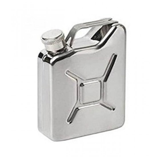 Can Shape Stainless Steel Silver Hip Flask Whisky Vodka Travel Camping 170ml