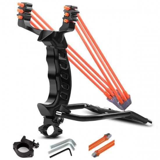 High Velocity Catapult Professional Slingshot with Torch Wrist Lock Outdoor Hunting Gulel