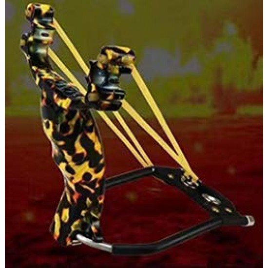 Heavy Slingshot Snake Yellow Color with Handle Outdoor Hunting Slingshot Catapult Gullel