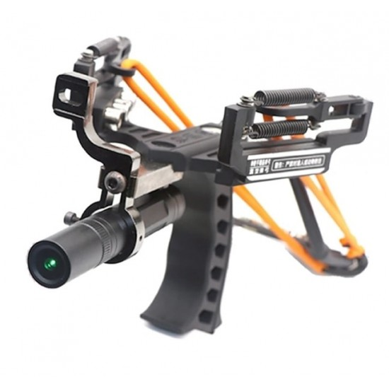 High Velocity Powerful Professional Hunting Catapult Laser Light Slingshot Outdoor Catapult