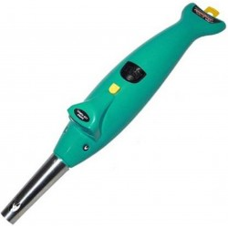 Plastic Dolphin 2 in 1 Torch Electronic Battery Green Gas Lighter