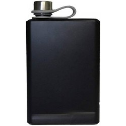 Stainless Steel Premium Black Matte Leak-Proof 10 Oz Hip Flask 300ml