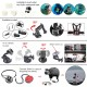 Camera Accessory Kit for Hero 2/3/3+/4, SJCAM and other Action Cameras With Large Size Case Strap  (Black)