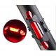 Cycle Front Light & Horn With Tail Red Light USB Rechargeable (Combo) LED Front Rear Light Combo  (Black)