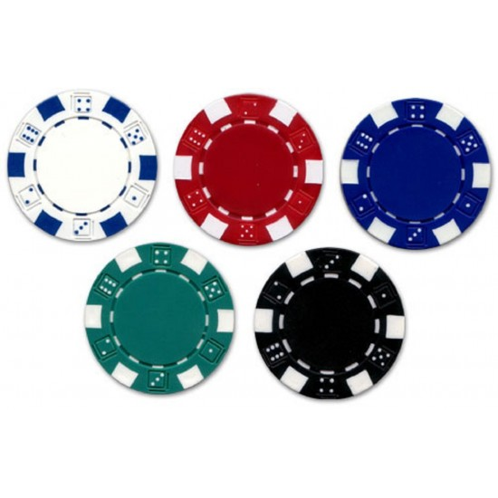 500 Pcs 5 Colour Poker Chips Loose in Box