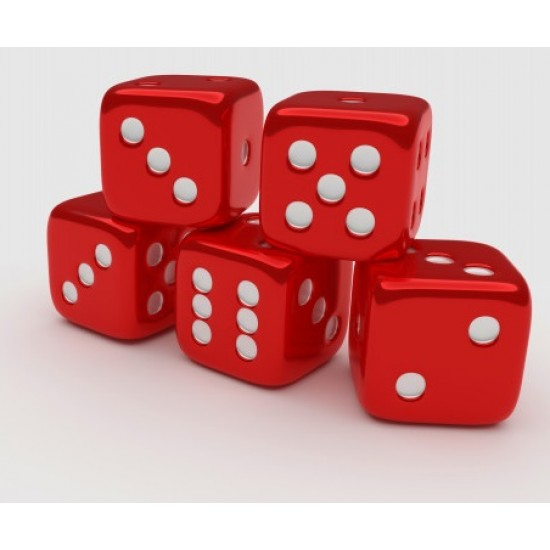 5 Pc Dice for Playing Board Game 6- Sided Rounded Corner Dice for Poker (1st)  (Rounded Corner Dice, for Poker Dice)