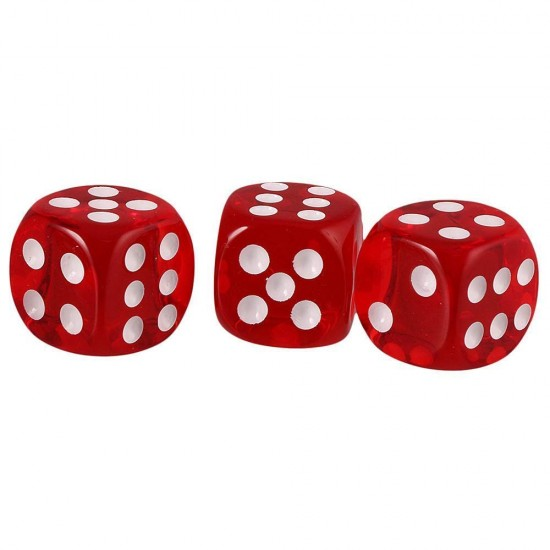 10 Pc Dice for Playing Board Game 6- Sided Rounded Corner Dice  (Red)