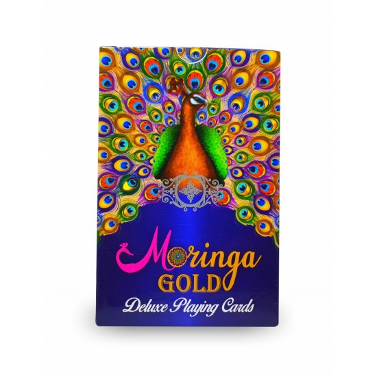 Playing Cards ( 2 sets) Bridge Casino Moringa Gold Deluxe Club Cardistry Cards