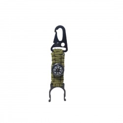 Paracord Water Bottle Holder Compass Hook Clip for Travelling Hiking Locking Key Chain