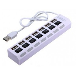 7 Ports Hi Speed USB HUB with Individual Switches
