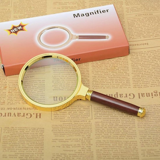 High Quality Hand Held Wooden 60mm Glass 10X 10X Magnifier