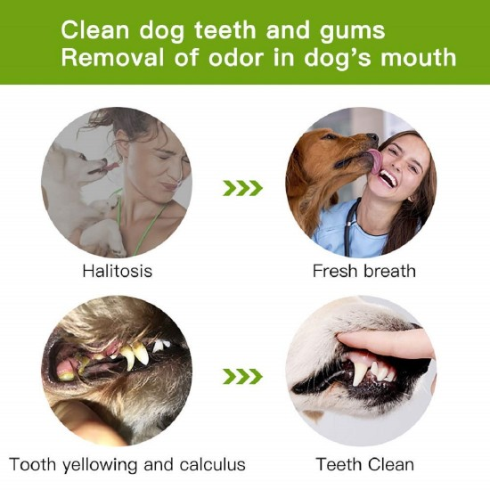 Dog Toothbrush Teeth Cleaning Stick Oral Care Dental Natural Soft Rubber Pet Brushing