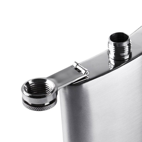 2 Pcs - Protos Hip Flask Stainless Steel for Drinks and Beverages - 200ml (With Funnel)