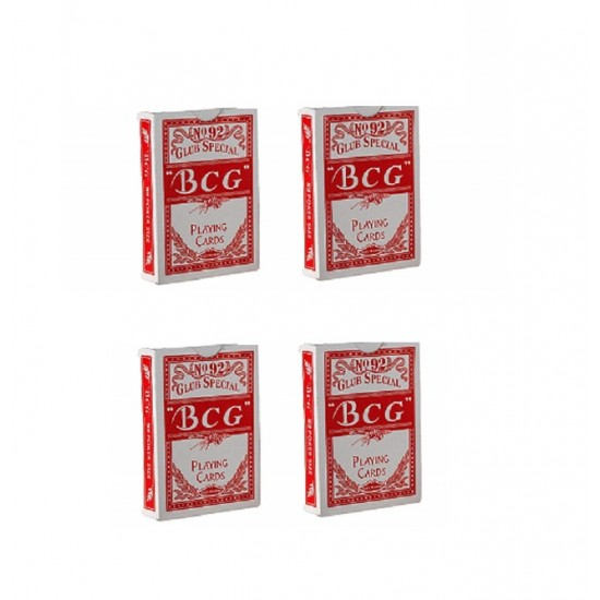 2 Packs Of BCG No.92 Club Special Poker Playing Red Cards