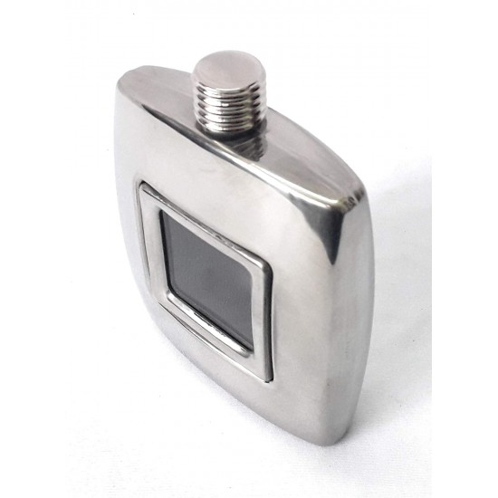 Rectangle Transparent 8Oz Pocket 230ml Stainless Steel Hip Flask (With Funnel)