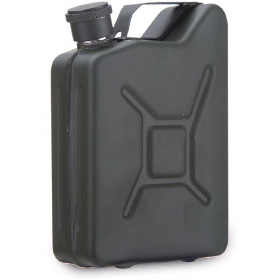 Can Shape Stainless Steel Hip Flask Travel Camping 170ml (With Funnel)