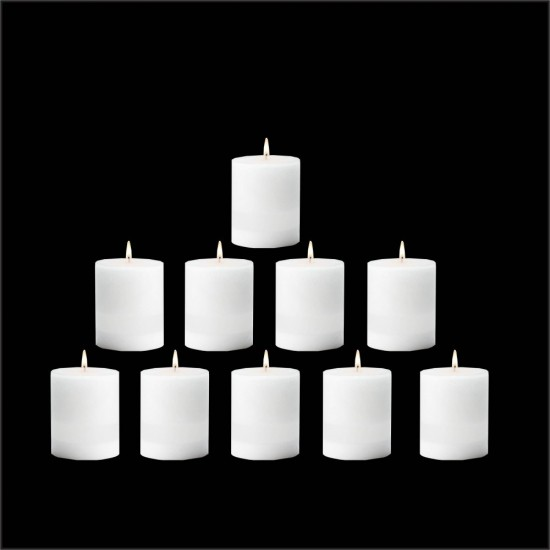 10 Pcs Thick Round 50mm Candles - Diwali Christmas Special