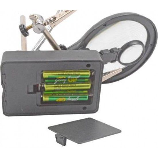 Hand Magnifier Magnifying Glass LED Soldering Stand  02 2.5X 7.5X 10X Soldering Stand