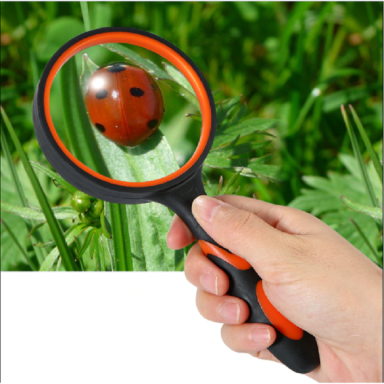 Magnifying Glass 3X Handheld Reading Magnifier 100MM Large Lens Non-Slip Soft Handle Book Newspaper Reading