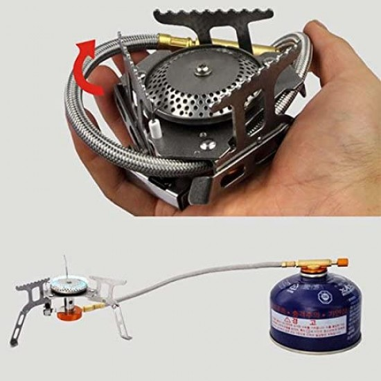 Stainless Steel Campsor Mini Folding Stove Gas Portable Outdoor Camping Hiking Travelling
