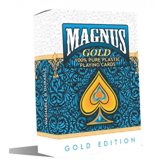 Plastic Playing Cards Magnus Gold Waterproof Colorful Plastic Deck Poker Playing Card