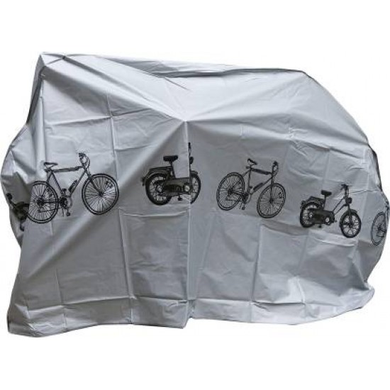 Cycle Dust Cover Waterproof Bicycle Motorcycle Rain Cover Bicycle Cover Free Size  (Grey)