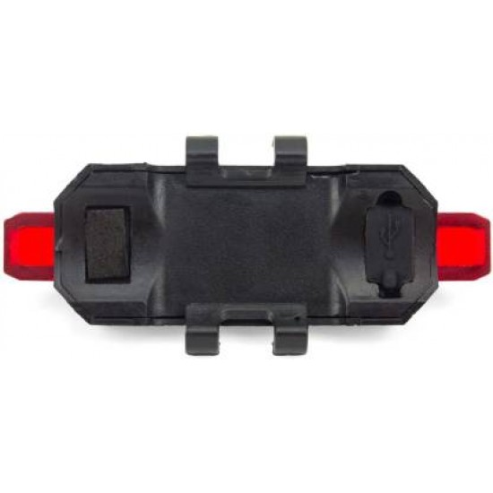 Cycle Tail Red Light 4 Mode Waterproof USB Rechargeable Bicycle Brake Light LED Rear Break Light  (Red)